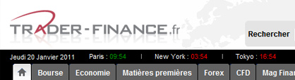 Trader finance et investissement