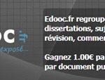 Edooc.fr : vendez vos documents et gagnez de l'argent