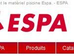 Espa, groupe international dans le domaine de la filtration piscine s'est dotée d'un nouveau site web.