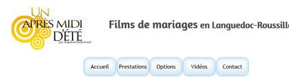 Films de mariages en Languedoc Roussillon