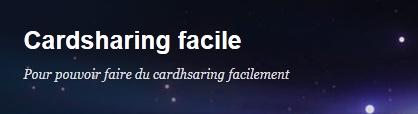 Cardsharing facile